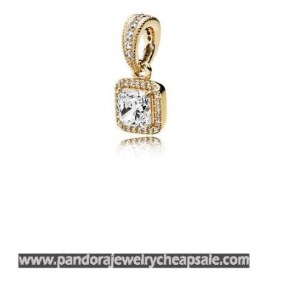 Pandora Collections Timeless Elegance Pendant 14K Gold Clear Cz Cheap Sale