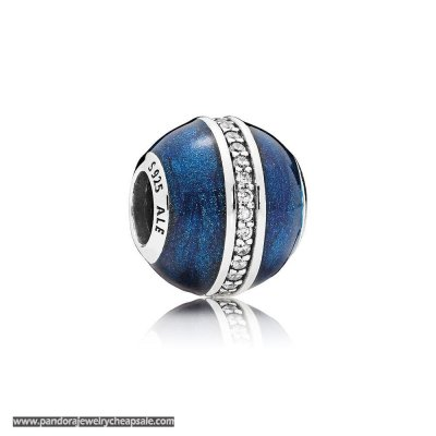 Pandora Zodiac Celestial Charms Orbit Charm Midnight Blue Enamel Clear Cz Cheap Sale