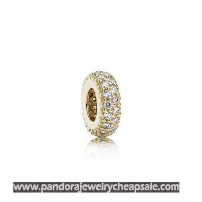 Pandora Spacers Charms Inspiration Within Spacer 14K Gold Cz Cheap Sale