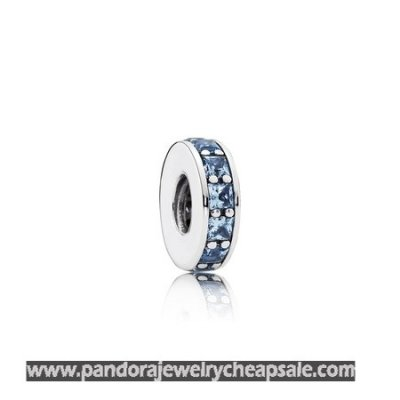 Pandora Spacers Charms Eternity Spacer Sky Blue Crystal Cheap Sale