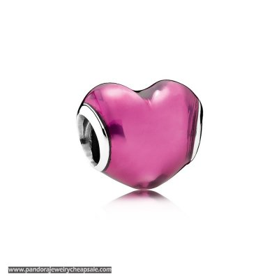 Pandora Valentine'S Day Charms In My Heart Charm Violet Enamel Cheap Sale