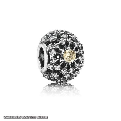 Pandora Contemporary Charms Inner Radiance Golden Colored Clear Cz Cheap Sale