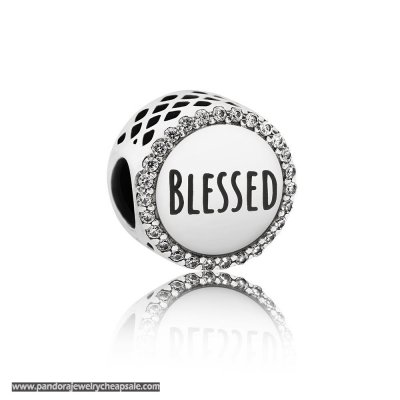 Pandora Contemporary Charms Blessed Charm Clear Cz Cheap Sale