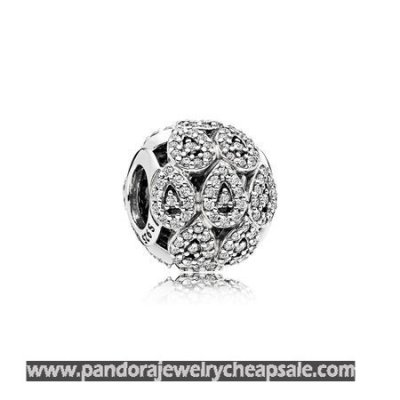 Pandora Contemporary Charms Cascading Glamour Charm Clear Cz Cheap Sale