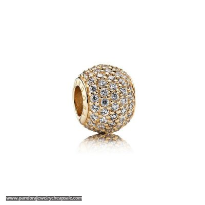 Pandora Sparkling Paves Charms Pave Lights Charm Clear Cz 14K Gold Cheap Sale