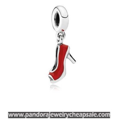Pandora Passions Charms Chic Glamour Red Stiletto Pendant Charm Red Enamel Cheap Sale