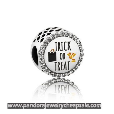 Pandora Holidays Charms Halloween Trick Or Treat Charm Mixed Enamel Clear Cz Cheap Sale