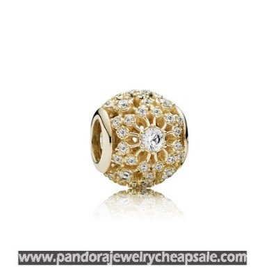 Pandora Contemporary Charms Inner Radiance Charm Clear Cz 14K Gold Cheap Sale