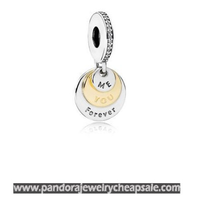 Pandora Wedding Anniversary Charms You Me Forever Pendant Charm Clear Cz Cheap Sale