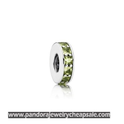 Pandora Spacers Charms Eternity Spacer Olive Green Crystal Cheap Sale
