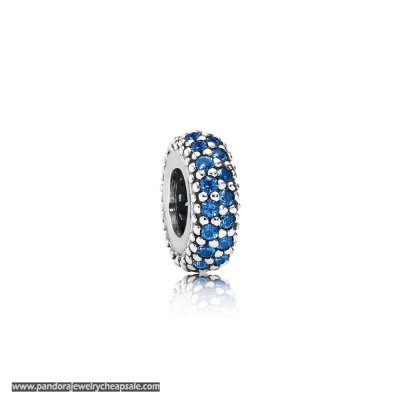 Pandora Spacers Charms Inspiration Within Spacer Blue Crystal Cheap Sale