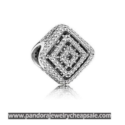 Pandora Contemporary Charms Geometric Lines Charm Clear Cz Cheap Sale