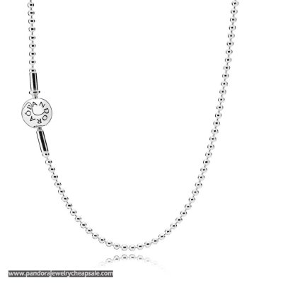 Pandora Essence Collection Beaded Silver Necklace Cheap Sale