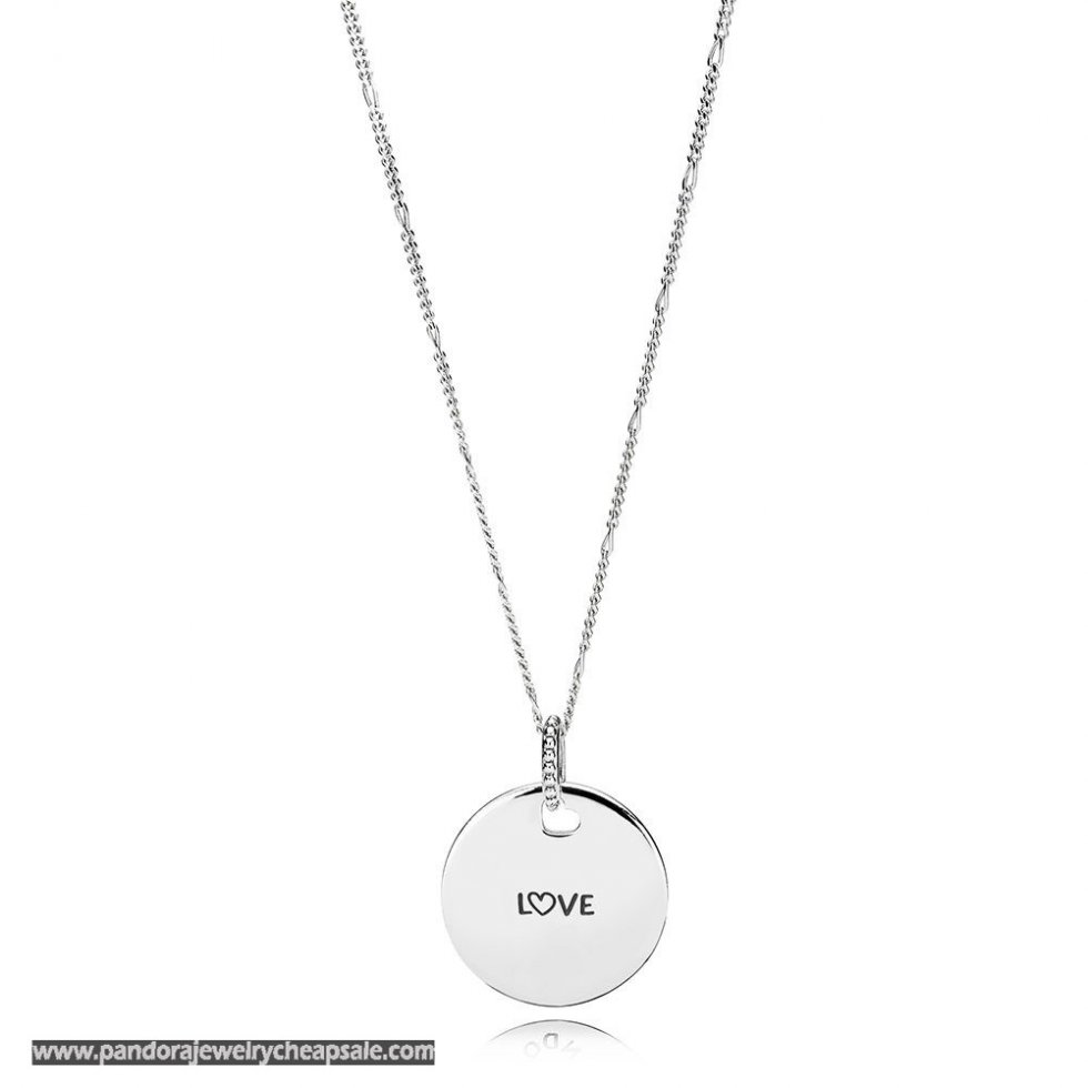 Pandora Love Disc Necklace Cheap Sale