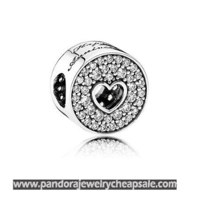 Pandora Sparkling Paves Charms Anniversary Celebration Clear Cz Cheap Sale
