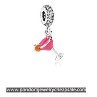 Pandora Passions Charms Chic Glamour Fruity Cocktail Pendant Charm Mixed Enamel Clear Cz Cheap Sale