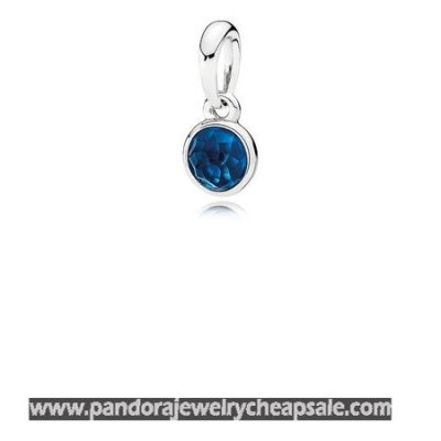 Pandora Pendants December Droplet Pendant London Blue Crystal Cheap Sale