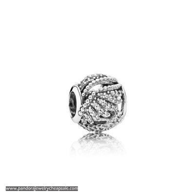 Pandora Passions Charms Chic Glamour Majestic Feathers Clear Cz Cheap Sale