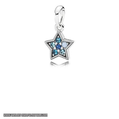 Pandora Winter Collection Bright Star Necklace Pendant Multi Colored Crystals Cheap Sale