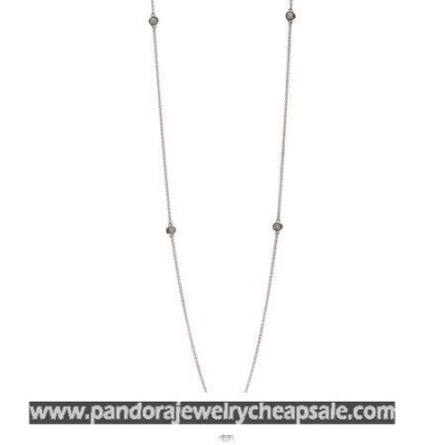 Pandora Chains Dazzling Dainty Droplets Necklace Clear Cz Cheap Sale
