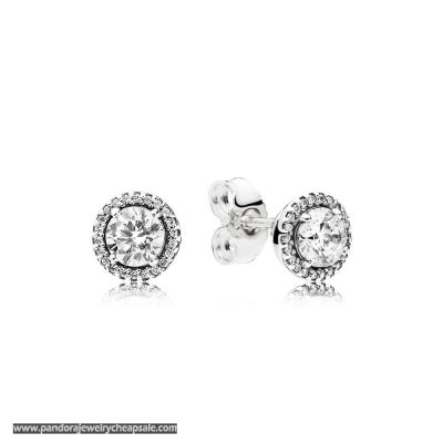 Pandora Earrings Classic Elegance Stud Earrings Clear Cz Cheap Sale