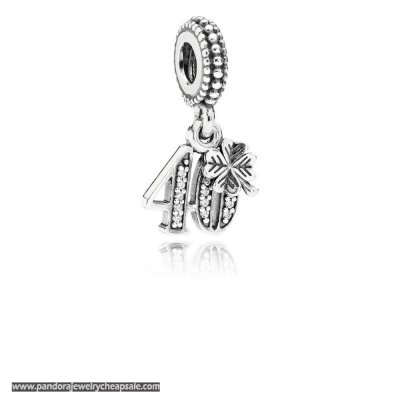 Pandora Wedding Anniversary Charms 40 Years Of Love Pendant Charm Clear Cz Cheap Sale