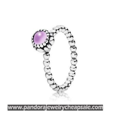 Pandora Rings Birthday Blooms Ring February Amethyst Cheap Sale
