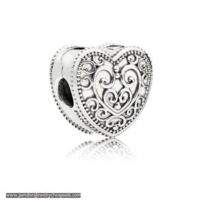 Pandora Enchanted Heart Clip Charm Cheap Sale