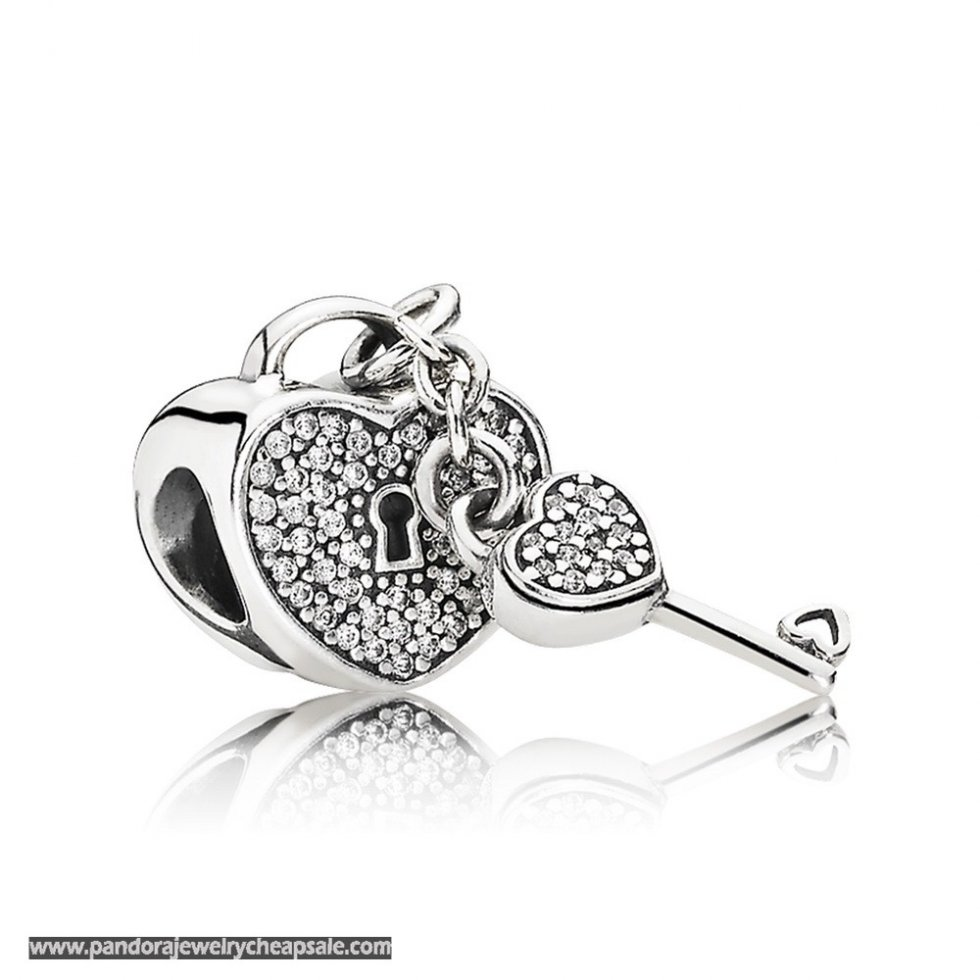 Pandora Symbols Of Love Charms Lock Of Love Charm Clear Cz Cheap Sale