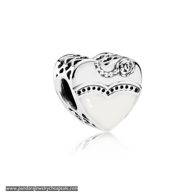 Pandora Wedding Anniversary Charms Our Special Day Charm Black White Enamel Cheap Sale