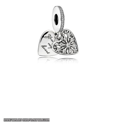 Pandora Nature Charms Heart Of Winter Pendant Charm Clear Cz Cheap Sale