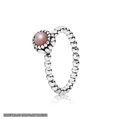 Pandora Rings Birthday Blooms Ring October Pink Opal Cheap Sale