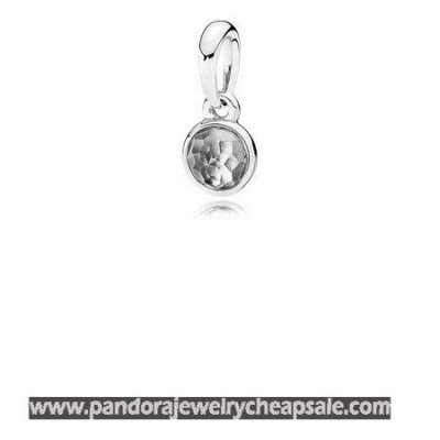 Pandora Pendants April Droplet Pendant Rock Crystal Cheap Sale