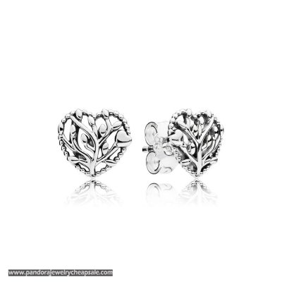 Pandora Flourishing Hearts Stud Earrings Cheap Sale