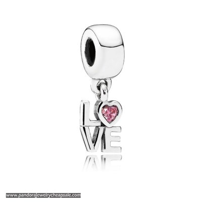 Pandora Symbols Of Love Charms All About Love Pendant Charm Fancy Pink Cz Cheap Sale