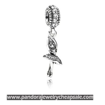 Pandora Passions Charms Sports Recreation Ballerina Pendant Charm Clear Cz Cheap Sale
