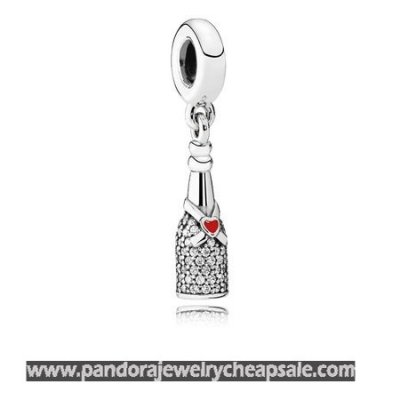 Pandora Passions Charms Chic Glamour Celebration Time Pendant Charm Red Enamel Clear Cz Cheap Sale