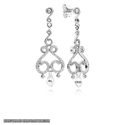 Pandora Chandelier Droplets Hanging Earring Studs Cheap Sale