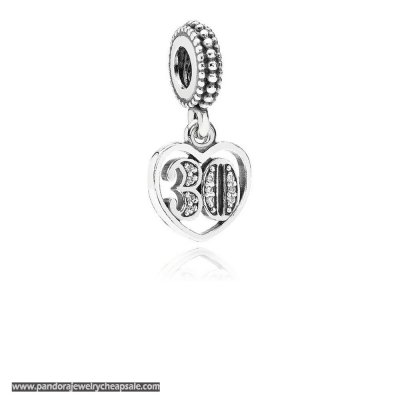 Pandora Wedding Anniversary Charms 30 Years Of Love Pendant Charm Clear Cz Cheap Sale