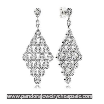 Pandora Earrings Cascading Glamour Limited Edition Earrings Clear Cz Cheap Sale
