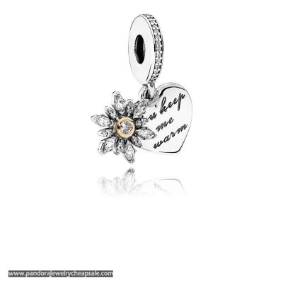 Pandora Valentine'S Day Charms Snowflake Heart Pendant Charm Clear Cz Cheap Sale