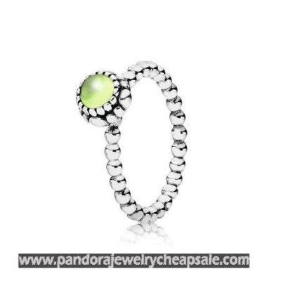 Pandora Rings Birthday Blooms Ring August Peridot Cheap Sale