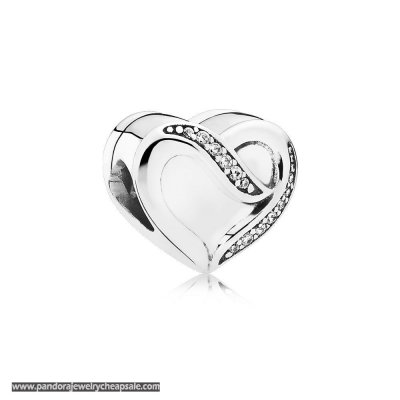 Pandora Symbols Of Love Charms Ribbon Of Love Clear Cz Cheap Sale
