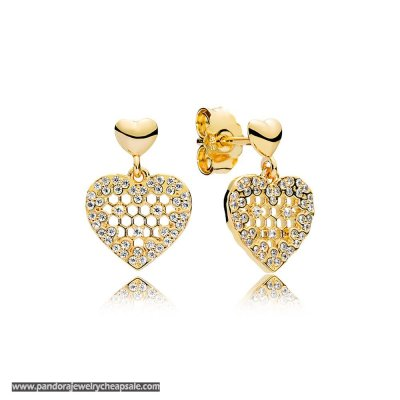 Pandora Shine Honeycomb Lace Earring Studs Cheap Sale