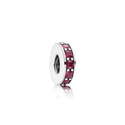 Pandora Spacers Charms Eternity Spacer Synthetic Ruby Cheap Sale